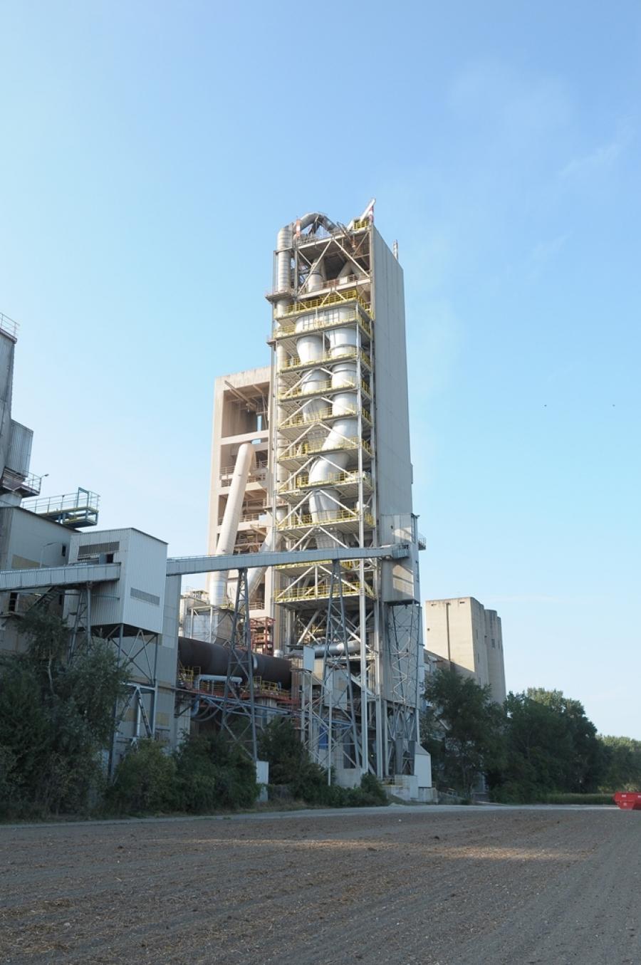 Zementwerk Mannersdorf mit dem Kalzinator von A TEC im Vordergrund