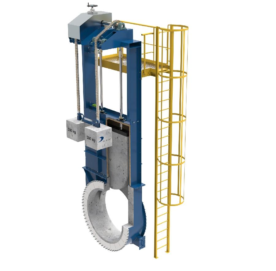 Tertiary air duct slide gate